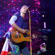 Coldplay lors du premier de ses trois concerts au Stade de France, Saint-Denis, le 15 juillet 2017