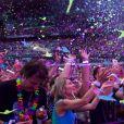 Coldplay en concert au Stade de France, Saint-Denis, le 15 juillet 2017.