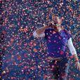 Chris Martin de Coldplay au Stade de France le 15 juillet 2017.