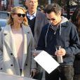 """Naomi Watts et Billy Crudup sur le tournage de """"Gispy"""" à New York le 2 novembre 2016."""