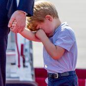 Prince George : Tout grognon pour l'arrivée des Cambridge à Berlin