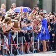 Kate Middleton et le prince William en visite à la porte de Brandebourg à Berlin, le 19 juillet 2017.