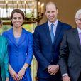 Kate Middleton, duchesse de Cambridge et le prince William, duc de Cambridge, reçus au palais de Bellevue à Berlin par le président Frank-Walter Steinmeier et sa femme Elke Büdenbender, le 19 juillet 2017.
