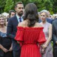 Le prince William et la duchesse Catherine de Cambridge rencontre les invités lors de la garden party organisée par l'ambassadeur de Grande-Bretagne à Berlin, Sebastian Wood, le 19 juillet 2017 en l'honneur de l'anniversaire de la reine.