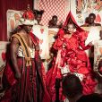 Djimon Hounsou, Ru Paul, Duckie Thot et le photographe Tim Walker - Coulisses de la réalisation du calendrier Pirelli 2018 par Tim Walker.
