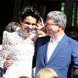 Mariage de Farida Khelfa et Henri Seydoux à la mairie du 17e arrondissement de Paris. Le 1er septembre 2012.