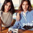 Kendall Jenner et Bella Hadid figurent sur la campagne automne 2017 d'Ochirly. Juillet 2017.