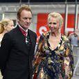 Sting (lauréat), sa femme Trudie Styler lors de la remise du prix Polar 2017 à Stockholm, le 15 juin 2017.