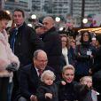 Le prince Albert II de Monaco et la princesse Charlene avec le prince Jacques et la princesse Gabriella lors de l'inauguration du Village de Noël à Monaco le 3 décembre 2016. © Charly Gallo / Gouvernement Princier /Pool restreint Monaco/Bestimage