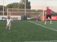 Antoine Griezmann et sa fille Mia, 1 an : Moment complice sur le terrain de foot
