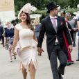 """Kelly Brook et son fiancé Jeremy Parisi lors de la 5ème journée des courses hippiques """"Royal Ascot"""" à Ascot, Royaume-Uni, le 24 juin 2017."""