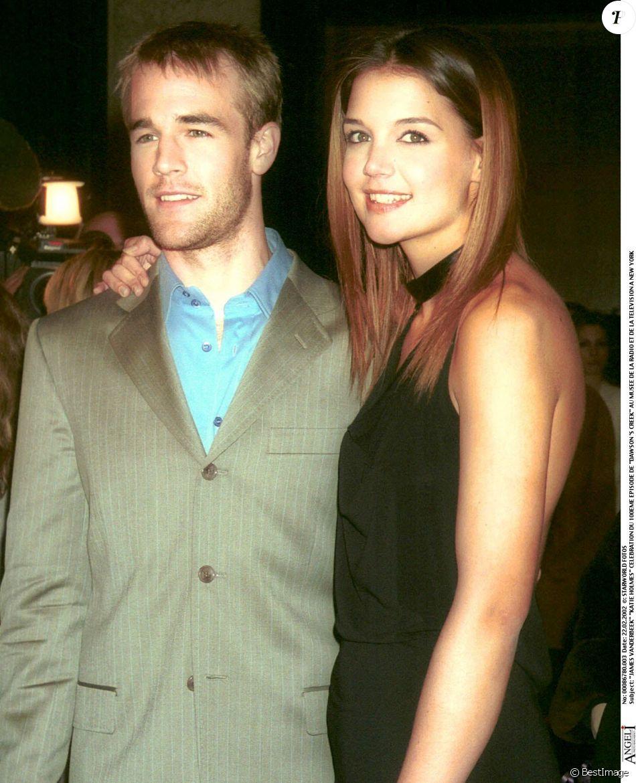 James Van Der Beek et Katie Holmes à New York en 2002
