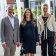 La princesse Sofia de Suède, enceinte de près de huit mois, assistait le 2 août 2017 à une conférence sur le développement durable, Sustainable Tomorrow, à Bastad.