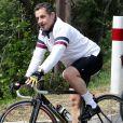 Nicolas Sarkozy s'est offert une randonnée à vélo au Cap-Nègre le 9 avril 2012.