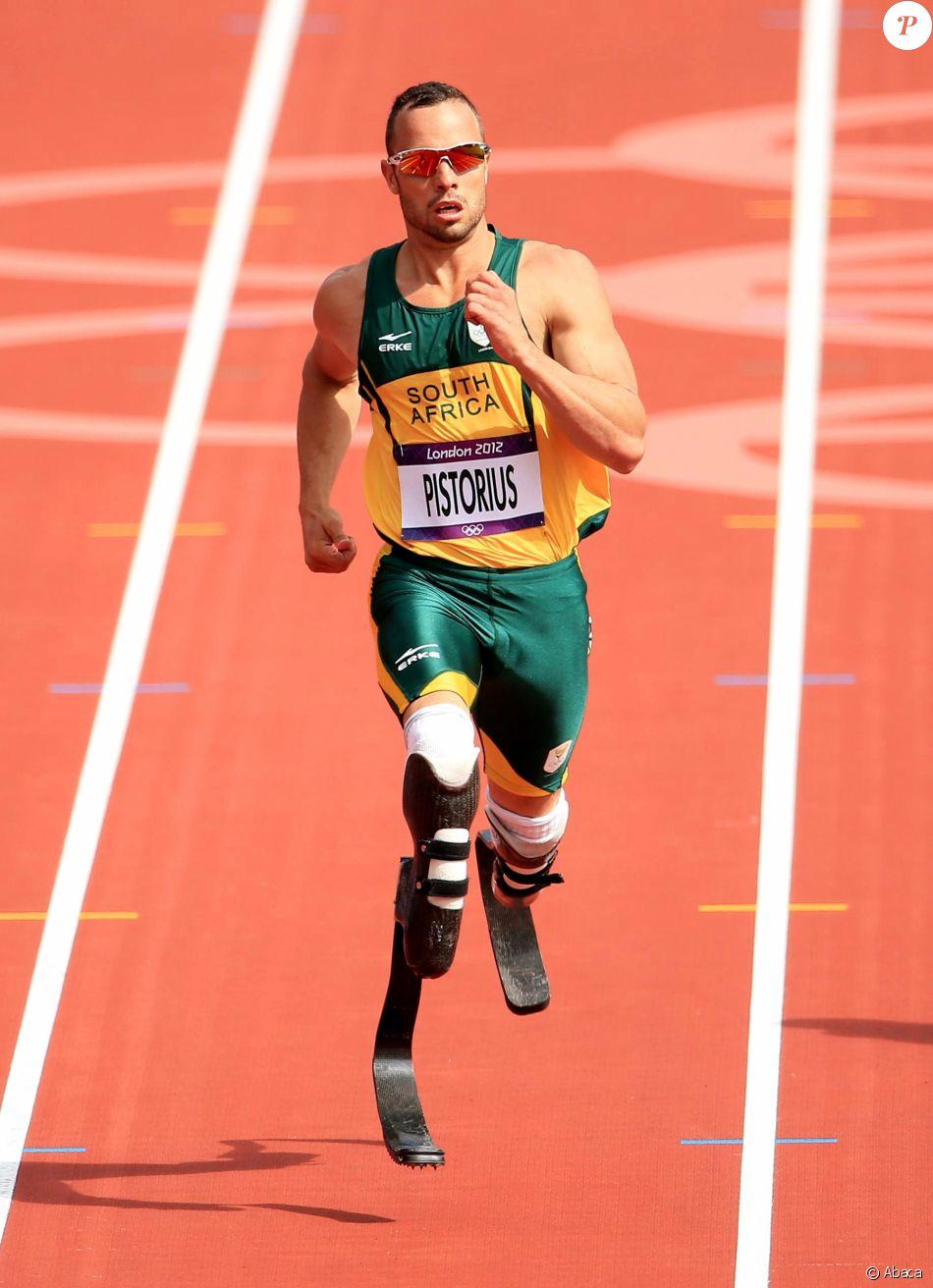 Oscar Pistorius aux Jeux Olympiques de Londres. Août 2012.