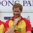 """Le prince William, duc de Cambridge et le prince Harry participent au tournoi de polo """"The Jerudong Park Trophy"""" au club de Cirencester et sortent vainqueur du match à Cirencester le 15 juillet 2017"""