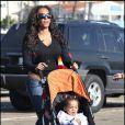 Mel B et sa fille Iris Angel le 13/12/2008 à Los Angeles