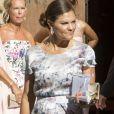 La princesse Victoria et la reine Silvia de Suède assistaient le 7 août 2017 au mariage d'Helena Sommerlath, nièce de Silvia, et de son compagnon Ian Martin, en la cathédrale de Palma de Majorque.