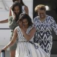 Michelle Obama, sa mère et ses filles Malia et Sasha à Madrid le 29 juin 2016.