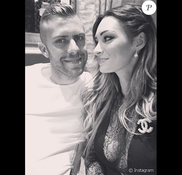 Emilie Nef Naf et le fooballeur Jérémy Ménez lorsqu'ils étaient encore en couple. Juin 2014