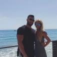 Britney Spears et son chéri Sam Asghari à Malibu - Photo publiée sur Instagram au mois d'avril 2017