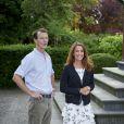 Le prince Joachim et la princesse Marie de Danemark lors du départ de leur fille Athena pour sa première rentrée des classes. La princesse Athena de Danemark, 5 ans, faisait le 11 août 2017 sa rentrée des classes au niveau 0 à l'école des soeurs de Saint-Joseph (Sct. Joseph Søstrenes Skole) à Ordrup, au nord de Copenhague.