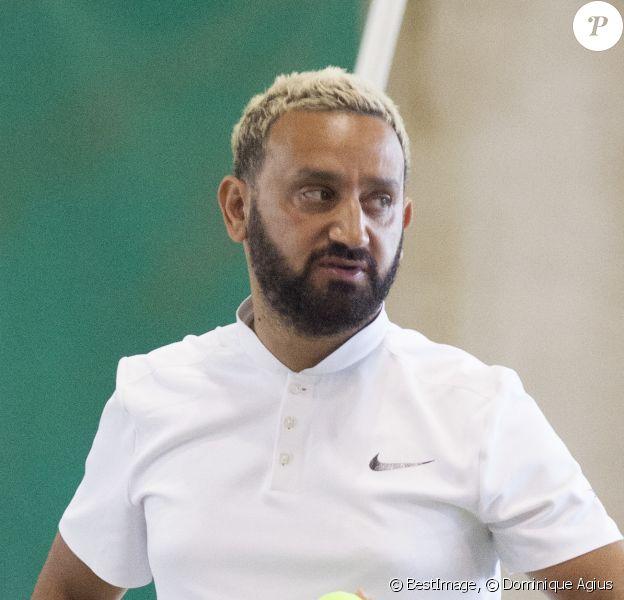Exclusif - Actuellement en vacances dans sa villa à Cannes, Cyril Hanouna a disputé un match de tennis lors du tournoi de l'US Cagnes à Cagnes-sur-Mer le 3 aout 2017. © Dominique Agius/Bestimage