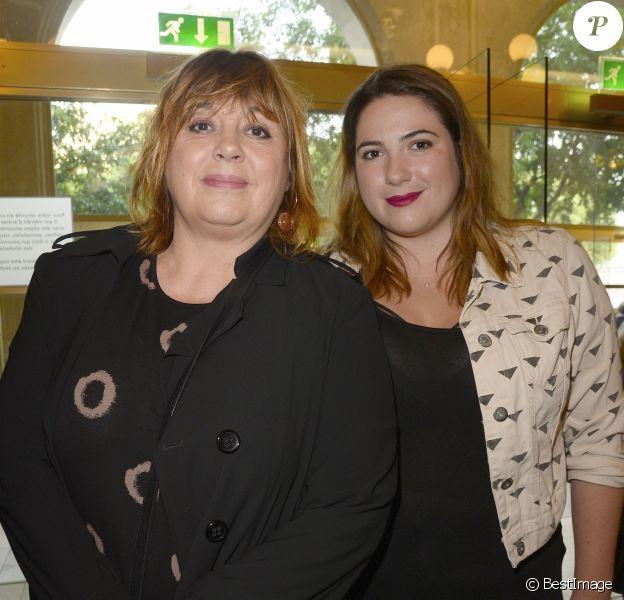 Semi-exclusif - Michèle Bernier et sa fille Charlotte Gaccio au concert de Patrick Bruel qui chante Barbara au Théâtre du Châtelet à Paris le 6 juin 2016. © Coadic Guirec / Bestimage