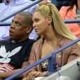 """Beyoncé et son mari Jay Z pendant l'US Open 2016 au USTA Billie Jean King National Tennis Center à Flushing Meadow, New York, le 1er Septembre 2016."""