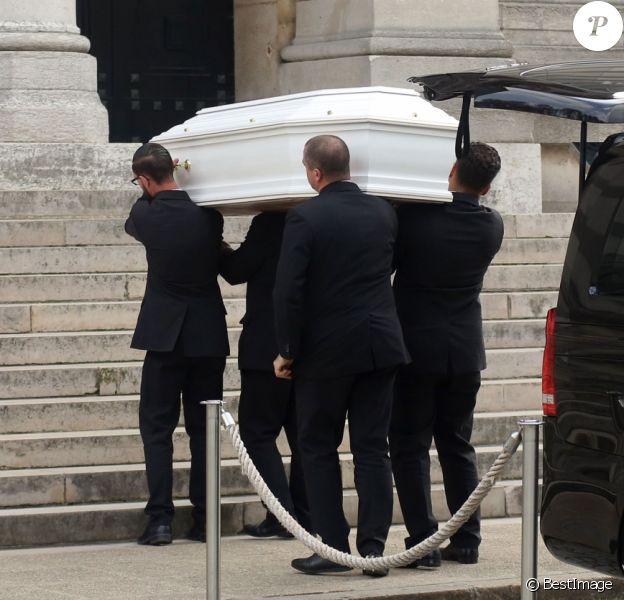 Obsèques de Jacqueline Monsigny au crématorium du cimetière du Père Lachaise à Paris le 23 août 2017.