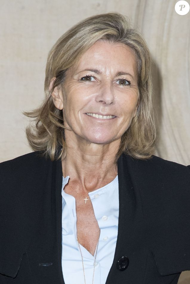 "Claire Chazal au défilé de mode ""Christian Dior"", collection prêt-à-porter Printemps-Eté 2017 à Paris, le 30 septembre 2016. © Olivier Borde/Bestimage"