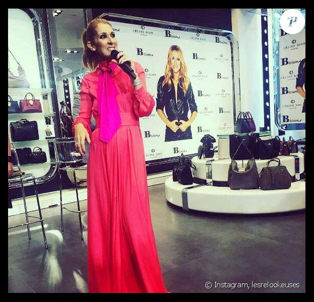 Céline Dion à la boutique Browns de Montréal, le 23 août 2017