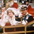Mariage de Diana, Princesse de Galles et du Prince Charles à Londres. Juillet 1981.