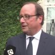 """François Hollande adresse un tendre message à Julie Gayet dans """"C à vous"""" sur France 5, le 28 août 2017 sur France 5."""