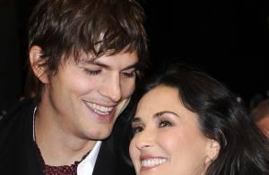 Demi Moore magnifique et rayonnante... et très amoureuse de son mari !