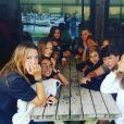 Les enfants de Sandrine Quétier sont sur cette photo ! Août 2017.