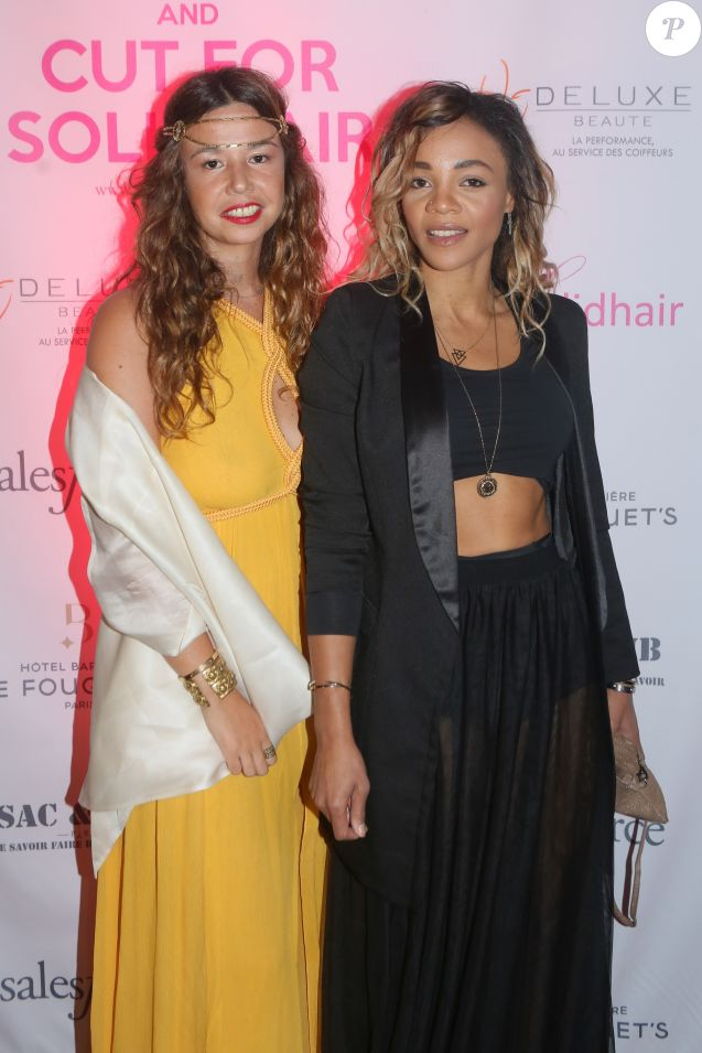 "Exclusif - La chanteuse Chanez, Louisy Joseph - 2ème édition du Gala de l'association ""Solidhair"" au profit de personnes atteintes du cancer au Fouquet's à Paris, le 3 septembre 2017. © CVS/Bestimage"