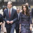 Le prince William et Kate Middleton lors de leur visite à Paris le 18 mars 2017.