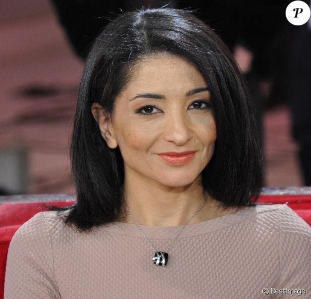 """Jeannette Bougrab - Enregistrement de l' emission """"Vivement Dimanche"""" a Paris le 20 mars 2013."""