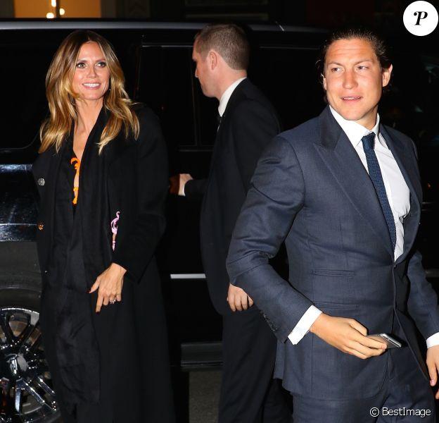 Heidi Klum et Vito Schnabel arrivent au restaurant Cipriani à New York le 10 février 2017
