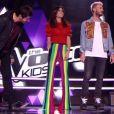 """Jenifer, son look divise dans """"The Voice Kids 4"""" le 16 septembre 2017 sur TF1."""