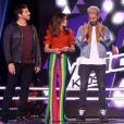 """Jenifer, stylée dans """"The Voice Kids 4"""" sur TF1 le 16 septembre 2017."""