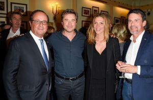 Manuel Valls affiche son nouveau look auprès de sa femme et François Hollande