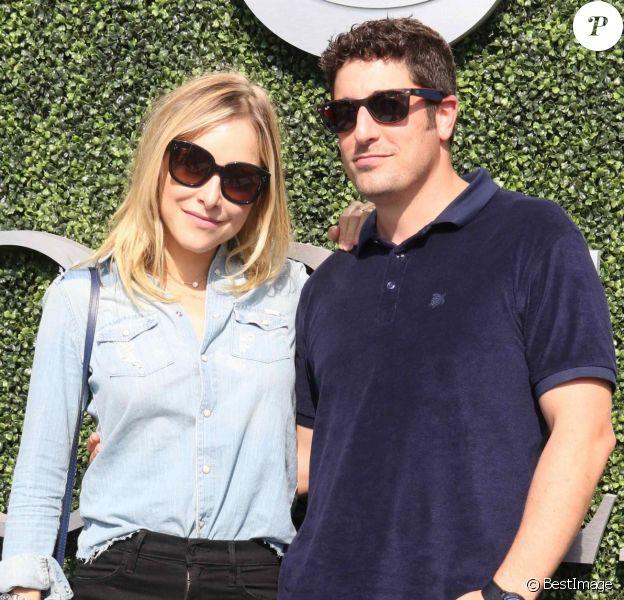Jason Biggs et sa femme Jenny Mollen lors du douzième jour de l'US Open 2016 au USTA Billie Jean King National Tennis Center à Flushing Meadow, New York, le 9 septembre 2016.