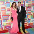 """Jenny Mollen et son mari Jason Biggs lors de la """"HBO Emmy After party"""" à Los Angeles, le 25 août 2014."""