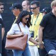 Première apparition officielle du prince Harry et sa compagne Meghan Markle dans les tribunes de la finale de tennis à la troisième édition des Invictus Games à Toronto, Ontario, Canada, le 25 septembre 2017.