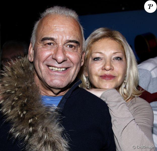 Michel Fugain et sa femme Sanda - Concert de Pluribus aux Folies Bergère le 7 mars 2015 à Paris.