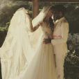 Dani Alves et Joana Sanz lors de leur mariage secret dans les Baléares, le 8 juillet 2017. Photo Instagram d'un compte fan, issue d'une story de Joana.
