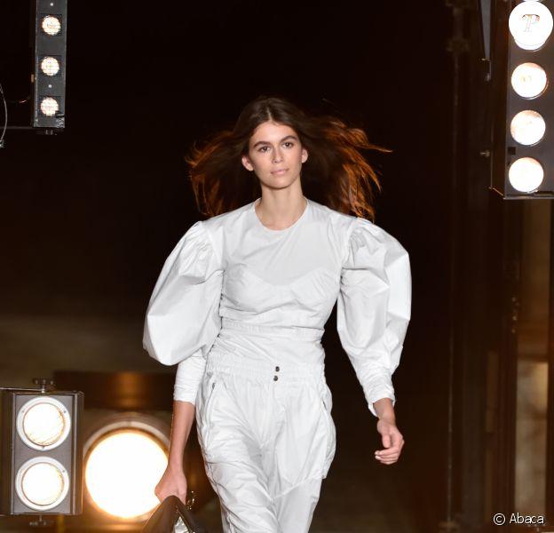 Kaia Gerber - Défilé Isabel Marant printemps-été 2018 à Paris, le 28 septembre 2017.