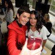 """""""Cristina Cordula et Salma Hayek - Défilé Giambattista Valli, collection prêt-à-porter printemps-été 2018 à Paris. Le 2 octobre 2017.  © CVS-Veeren / Bestimage"""""""